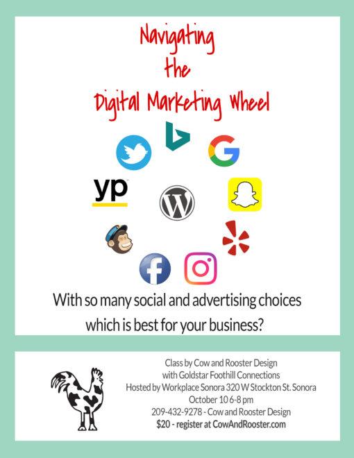 Digital Marketing Class, Tuolumne County, Sonora, Small Business, Social Media Class, Intro to Marketing