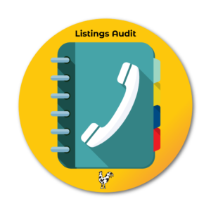 Listings Audit icon of address book