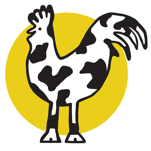 Cow and Rooster Web Design Logo